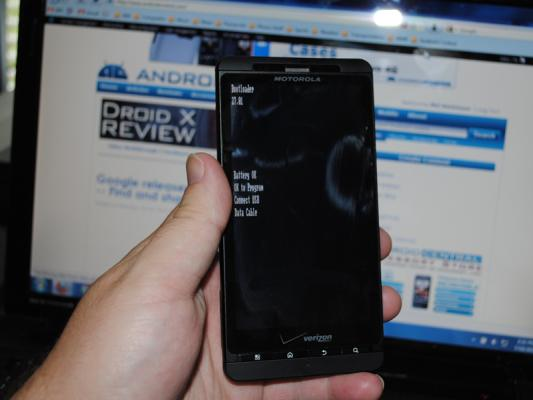 Droid X Bootloader Locked!