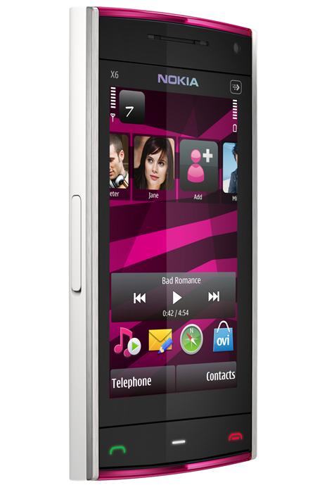 Nokia X6 Pink