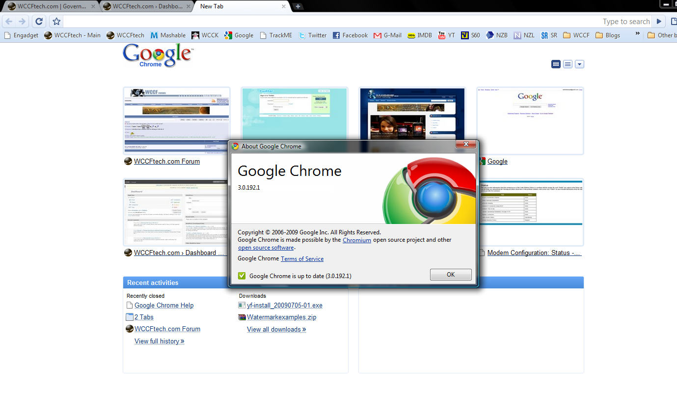 Google releases Chrome ver  3 0 192 1 on its Dev channel