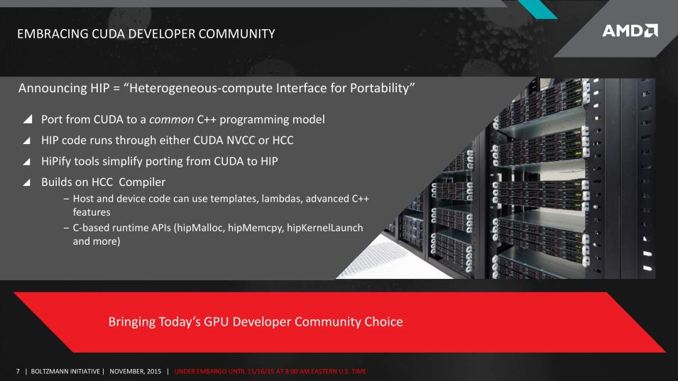 AMD CUDA Compiler/Compatibility Layer Announced with the