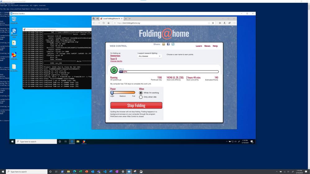 Cómo configurar Folding @ Home en Windows Sandbox